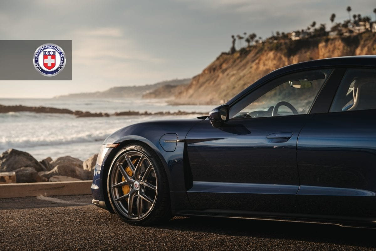 Porsche Taycan Turbo S with HRE P101SC Wheels in Brushed Dark Clear
